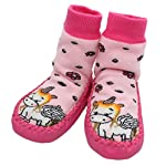 Baby Girls Winter Slipper Socks Anti-slip Pink Unicorn