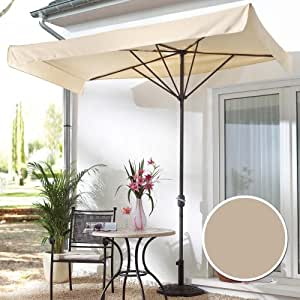 parasol pour balcon et terrasse rectangulaire beige jardin. Black Bedroom Furniture Sets. Home Design Ideas