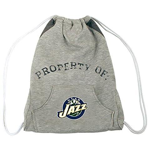 NBA Utah Jazz Hoodie Cinch Backpack, 14 x 17-Inch, Gray