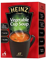 Heinz Vegetable Cup Soup, 19 g (Pack of 4)