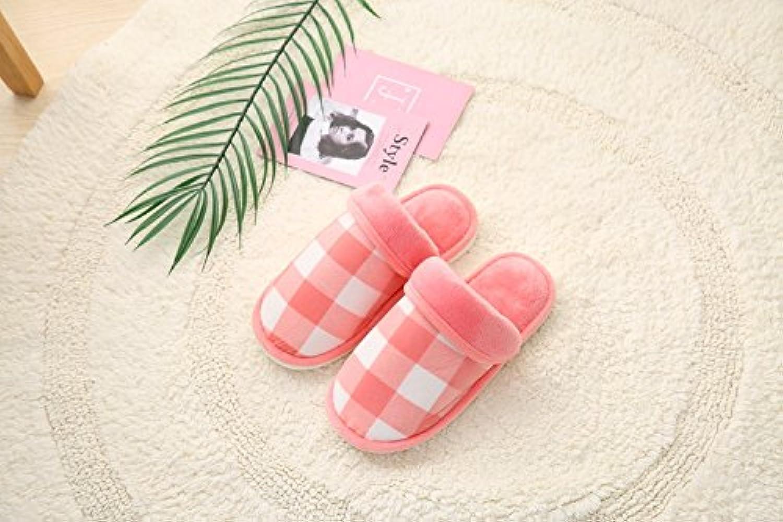 Y-Hui cotone cotone cotone pantofole, fresco inverno Plaid pantofole, Home pantofole caldi,44 45,rosa | Exquisite (medio) lavorazione  60add7