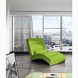 JUSTyou CHICAGOU Liege Relaxliege Loungesessel Kunstleder (BxLxH): 75x175x85 Grün