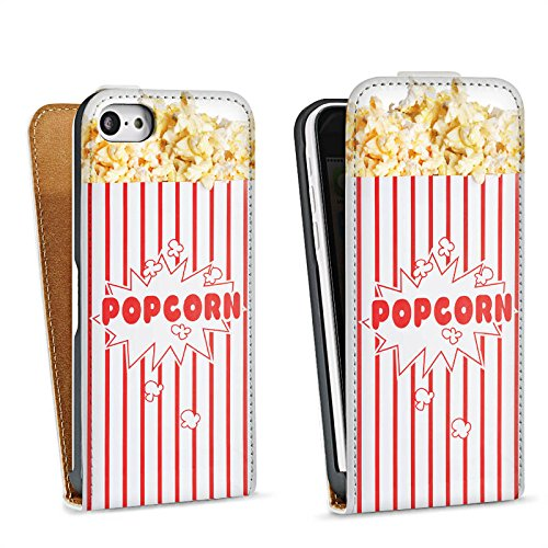 Tasche kompatibel mit Apple iPhone 5c Flip Case Hülle Popcorn Kino Design - Case-kino Iphone 5c
