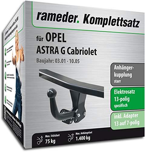 Rameder Komplettsatz, Anhängerkupplung starr + 13pol Elektrik für OPEL Astra G Cabriolet (116915-04760-2)