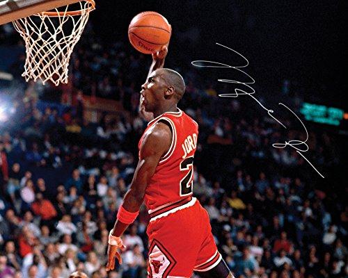 FRAME SMART Michael Jordan #1 | Signierter Fotodruck | 10x8 Größe passt 10x8 Zoll Rahmen | Maschinenschnitt | Fotoanzeige | Geschenk Sammlerstück