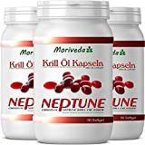 Krill oil 270 capsules with NEPTUNE Premium Krill Oil. Omega 3,6,9 and highest levels of astaxanthin (3x90)