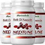 Olio di krill 270 capsule con 100% puro NEPTUNE Premium Krill Oil. Valori Omega 3,6,9 e astaxantina massimo (3x90)