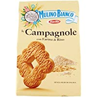 Mulino Bianco - Biscotti Campagnole, Biscotti Frollini con Crema di Riso al Latte e Farina di Riso - 4 confezioni da 350 g [1400 g]