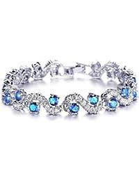 Yutii Skyblue Sterling-Silver Cuff & Kadaa Bracelet For Women