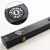 Jonny 8 Ball BLACK CROC Design 2pc Cue Case For Snooker Pool Cue