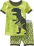 Set di pigiama per ragazzo Babyspace, a 2 pezzi, motivo: dinosauro, al 100% in cotone, dimensioni: 92/98 cm - 122-128 cm. verde Green