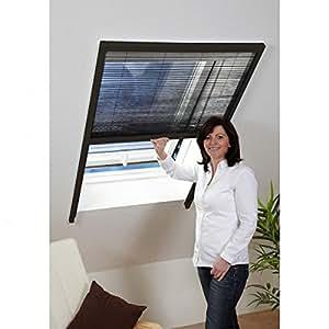 Moustiquaire Vélux fenêtre de toit plissé en ALU Marron recoupable L160 x H180cm
