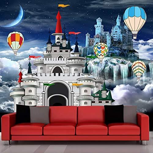 Wandtapete 3D Schloss Märchen Foto Wandmalerei Kinderzimmer Cartoon Hintergrund Wanddekor Passen Sie Jede Größe(W)250X(H)175Cm