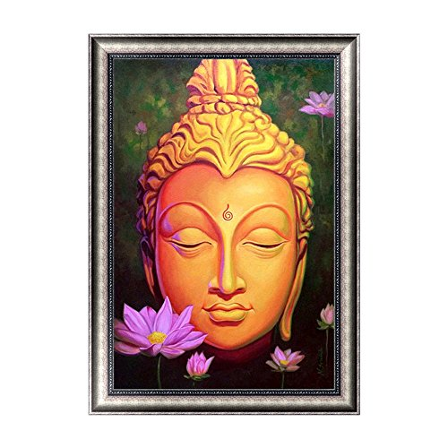 Mumustar DIY 5D Diamond Painting By Number Kits Chinese Buddha Pattern Rhinestone Pasted Mosaic Embroidery Cross Stitching Art Kits Handcraft Mural Home Wall Decor