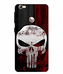 Snazzy Skull Printed Black Hard Back Cover For LeEco Le 1S, LeEco Le 1S Eco, LETV Le 1S