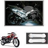 #8: Vheelocityin 10cm Neon Bike Light White - 2pc For Tvs Sport