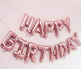 Best Party Decorations - AMFIN (16 inch) Happy Birthday Letter Foil Balloon Review