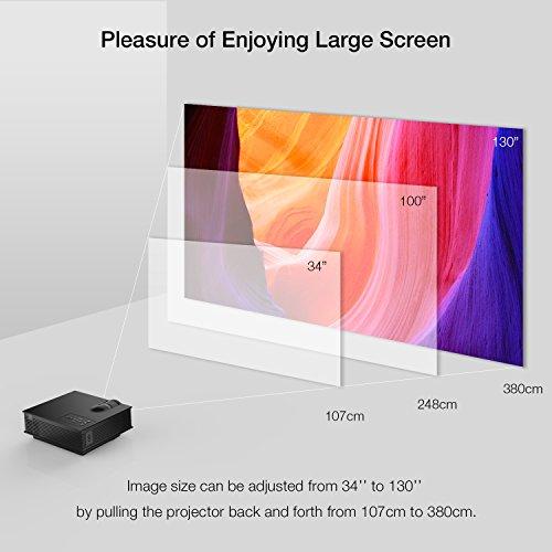 APEMAN Mini LCD Beamer mit 1200 Lumen Unterstützt Videospiele 1080P HD - 4