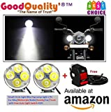 #3: Good Quality®™ 4 Led Small Circle Motorcycle Light Bike Fog Lamp Light - 2 Pc For Royal Enfield Thunderbird