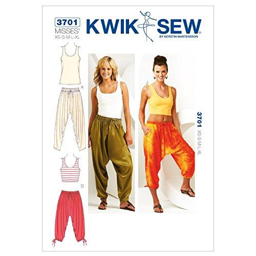 Kwik Sew K3701 Schnittmuster für Hosen und Tops, Größe XS-S-M-L-XL -