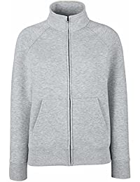 Fruit of the Loom Lady Fit Full Zip Sweat Jacket Black,Navy,Grey,White