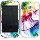 Samsung Galaxy S3 mini Case Skin Sticker aus Vinyl-Folie Aufkleber Farben Bunt Nebel