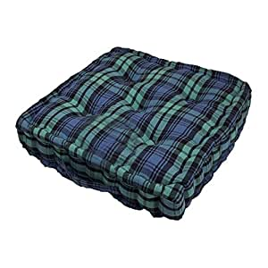 homescapes coussin de chaise motif tartan couleur vert bleu et noir fait en 100 coton 50x50. Black Bedroom Furniture Sets. Home Design Ideas