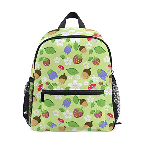 Rucksack Strawberry Mushroom Food Seamless Pattern Rucksack Perfekt für Schulreisen Kindertagesstätte für Teen Boys Girls -