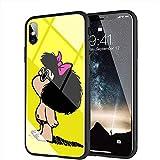 iPhone 7 Plus Funda, iPhone 8 Plus Funda, Cubierta Trasera de Vidrio Templado, Silicona Suave, Compatible con iPhone 7 Plus/8 Plus AMB-46 Mafalda