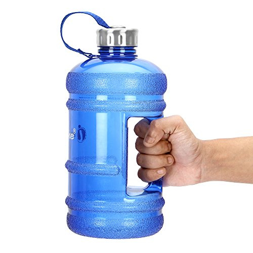 Ishake 2.2 Litre Gallon Water Bottle, PETG Eco-Friendly Sports Fitness Exercise Water...