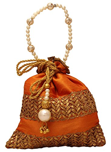 Bombay Haat Ethnic Rajasthani Potli Bag / Party Clutch / Bridal Clutch  available at amazon for Rs.299