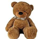 Joyfay Marca oso de peluche 100 - 200 cm gigante de la muñeca de juguete suave de la felpa de peluche oso de peluche de juguete oso peluche gigante peluches gigantes osos de peluche gigantes (160 cm, Marrón Oscuro)