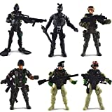 Smiday 6 Pcs/Set Police Army Men Action Figures Solider Combat Toys with Weapon/Military Figures Playsets and Accessories (Special Forces)