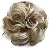 PRETTYSHOP Scrunchy Scrunchie Bun Up Do Hair Piece Hair Ribbon Ponytail Extensions Wavy Messy Light blond mix 25H613 G37A