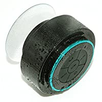 ORFREE IP67 Waterproof Bluetooth Shower Speaker-Portable with Strong Sucker,Handsfree Speakerphone,Compatible all Bluetooth device Black&Blue