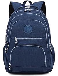 eeb1cbc7e22 Aeoss school backpack for girls women Nylon Waterproof Laptop Bag Casual  Backpacks BLUE