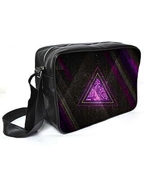 Snoogg Zoyd Maße Leder Unisex Messenger Bag für College Schule täglichen Gebrauch Tasche Material PU