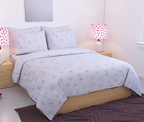 Home Designs premium cotton reversible doublebed Dohar/quilt cover/blanket cover- 90 x 90...
