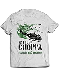 9366w Get To Da Chopper Mens T-Shirt Predator The Choppa Alien Hunter Aliens Sulaco Nostromo