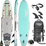 THURSO SURF Waterwalker Tavola da SUP Stand Up Paddle Board Gonfiabile 320 x 79 x 15 cm Doppio Strato Imballaggio Contenente Pagaia con Asta in Carbonio/Pinne Veloci da Montare/Leash/Pompa/Zaino