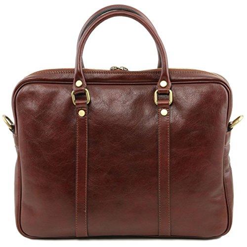 Tuscany Leather Prato - Esclusiva cartella porta notebook in pelle Rosso Porta notebook in pelle Testa di Moro