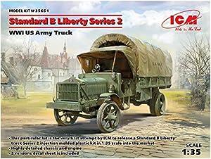 ICM 35651 Standard B Liberty Series 2, WWI US Army Truck - Maqueta de camión, Color Gris
