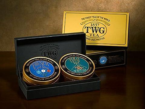 TWG Singapore - The Finest Teas of the World - Sweetheart Tea Set - 2 x 100gr Caviar Tin Gift Box