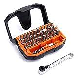Tacklife Bitset, 32 Teile, Edelstahl-Universalhalter, Adapter für Steckschlüssel, Adapter für Bohrmaschine/Schraubendreher, Ratsche, rotierender Clip und Hängeöse / HBWS1A