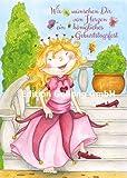 Geburtstagskarte: Prinzessin * Glitzerlack