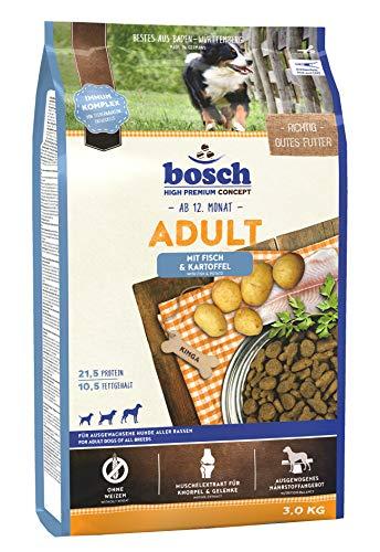 bosch HPC Adult mit Fisch & Kartoffel | Hundetrockenfutter für ausgewachsene Hunde aller Rassen, 1 x 3 kg