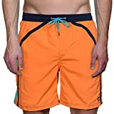 Bruno Banani Herren BadeShort Bermuda Tube Ride, Gr. X-Large, Orange (orange 15)