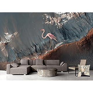 Mbwlkj Benutzerdefinierte Moderne Große Graue Muster Tapete 3D Wall Papers  Wohnzimmer Ideen Küche Tapete Design Flamingos