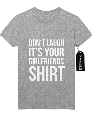 T-Shirt DON'T LAUGH IT'S YOUR GIRLFRIENDS SHIRT F959499 Grau