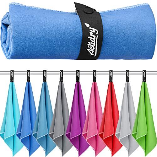 Mikrofaser Handtuch XL 100 x 200 cm - Dunkelblau - Strandtuch Badetuch | leicht schnelltrockend und hochsaugfähig | Handtücher in 9 Farben und S M L XL Größen